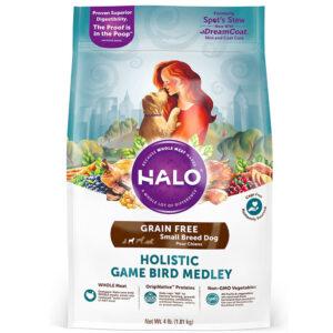 Thức ăn cho chó Halo Holistic Game Bird Medley Grain-Free Small Breed