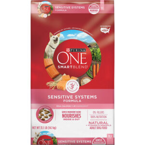 Thức ăn cho chó Purina ONE SmartBlend Sensitive Systems Formula Adult Premium