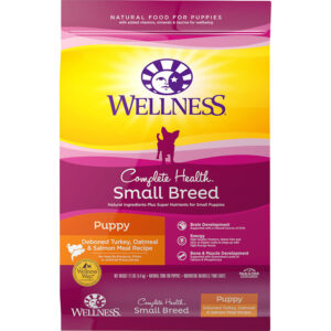Thức ăn cho chó Wellness Small Breed Complete Health Puppy Turkey, Oatmeal & Salmon Meal Recipe