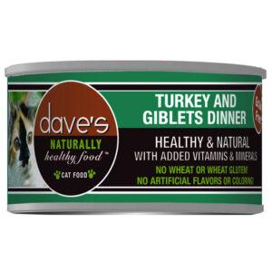 Pate cho mèo Dave's Pet Food Healthy Grain Turkey & Giblets