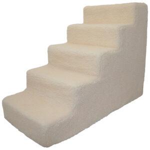 Bậc thang cho chó mèo Best Pet Supplies Foam, White Lambswool
