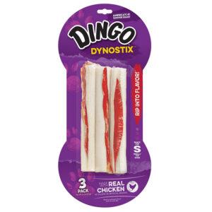 Bánh que cho chó Dingo Dynostix Meat & Rawhide