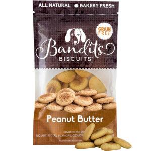 Bánh thưởng cho chó Bandit's Biscuits Peanut Butter Grain-Free