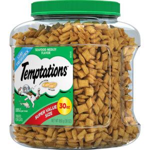 Bánh thưởng cho mèo Temptations Seafood Medley Flavor