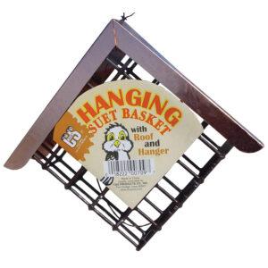 Giỏ đựng thức ăn cho chim C&S Hanging Suet Basket with Roof & Hanger
