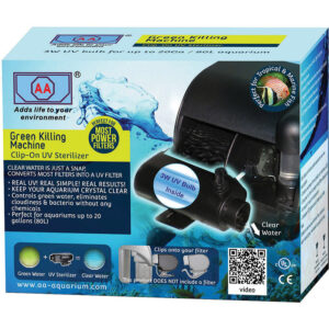 Máy lọc bể cá AA Aquarium Green Killing Clip On 3-Watt