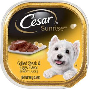 Pate cho chó Cesar Sunrise Breakfast Grilled Steak & Eggs