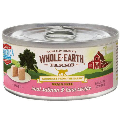 Pate cho mèo Whole Earth Farms Grain-Free Real Salmon & Tuna