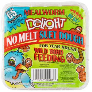 Thức ăn cho chim C&S Mealworm Delight No Melt Suet Dough