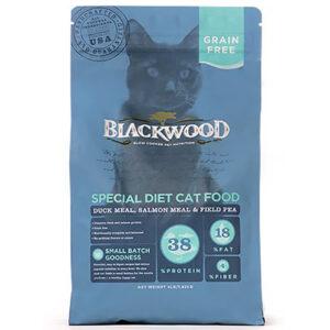 Thức ăn cho mèo Blackwood Duck Meal, Salmon Meal & Field Pea