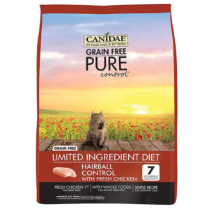 Thức ăn cho mèo CANIDAE Grain-Free PURE Control Hairball Formula with Chicken Limited Ingredient Diet