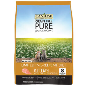 Thức ăn cho mèo CANIDAE Grain-Free PURE Foundations Kitten Formula with Chicken Limited Ingredient Diet