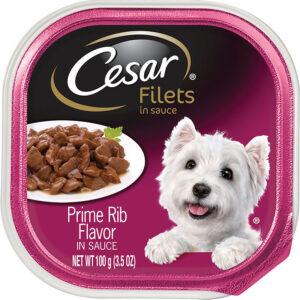 Thức ăn ướt cho chó Cesar Gourmet Filets in Sauce Prime Rib