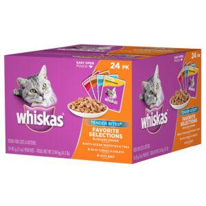 Thức ăn ướt cho mèo Whiskas Tender Bites Favorite Selections
