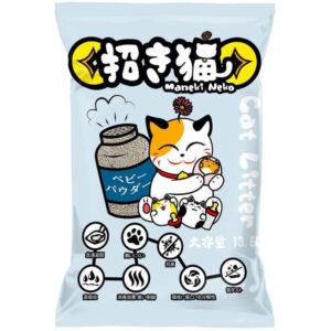 Cát vệ sinh cho mèo mùi phấn Maneki Neko Cat Litter