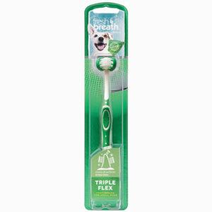 Bàn chải đánh răng cho chó mèo TropiClean Fresh Breath Tripleflex