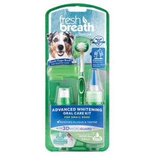 Bộ sản phẩm làm sạch răng cho chó TropiClean Whitening