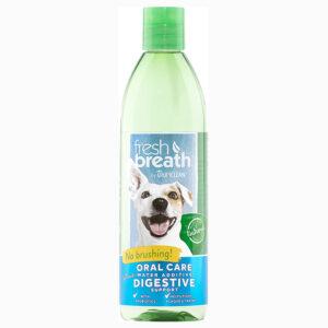 Nước vệ sinh răng miệng cho chó mèo TropiClean Additive Plus Digestive