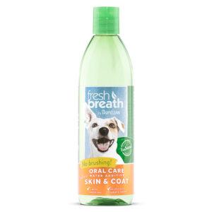 Nước vệ sinh răng miệng chó mèo TropiClean Plus Skin & Coat