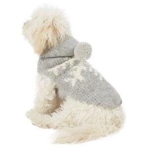 Quần áo cho chó mèo Chilly Dog Alpaca Grey Snowflake