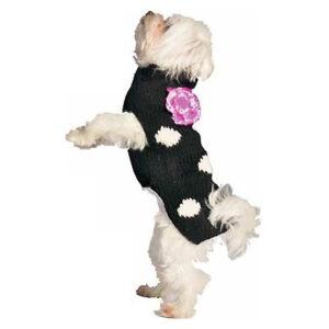 Quần áo cho chó mèo Chilly Dog Black Polka Dot