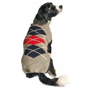 Quần áo cho chó mèo Chilly Dog Grey Argyle