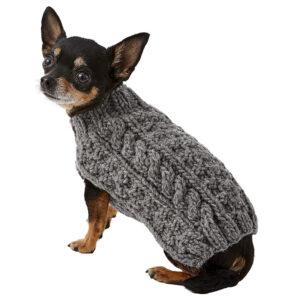 Quần áo cho chó mèo Chilly Dog Grey Cable Knit