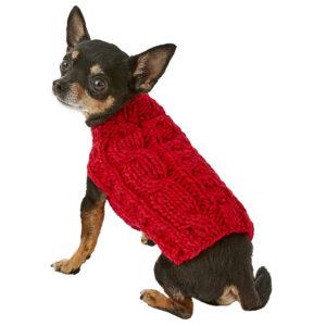 Quần áo cho chó mèo Chilly Dog Red Cable
